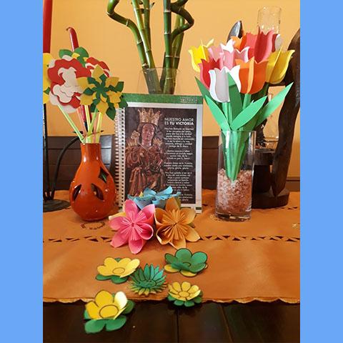 Ofrenda floral 5º de E.Primaria