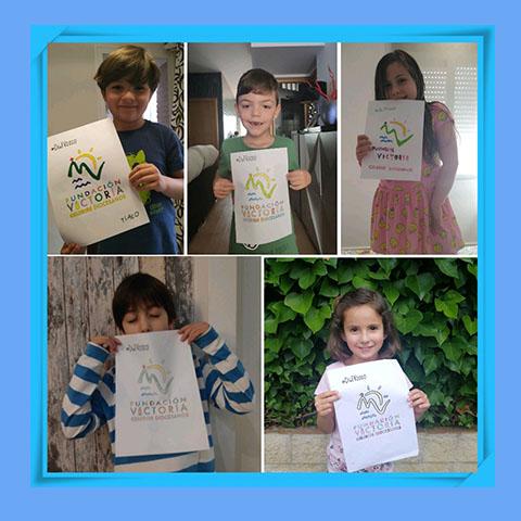 Collage logo Fundación Victoria