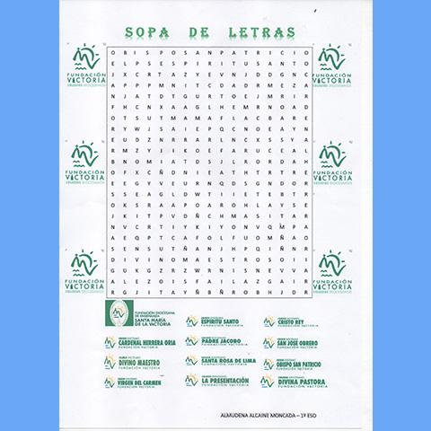 Sopas de letras Colegios Fundación Victoria